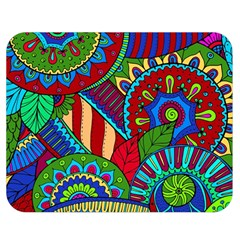 Pop Art Paisley Flowers Ornaments Multicolored 2 Double Sided Flano Blanket (medium)  by EDDArt