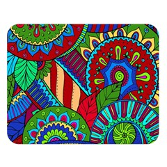 Pop Art Paisley Flowers Ornaments Multicolored 2 Double Sided Flano Blanket (large)