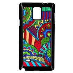 Pop Art Paisley Flowers Ornaments Multicolored 2 Samsung Galaxy Note 4 Case (black) by EDDArt