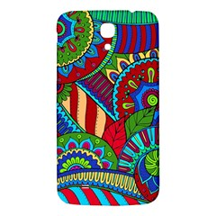 Pop Art Paisley Flowers Ornaments Multicolored 2 Samsung Galaxy Mega I9200 Hardshell Back Case by EDDArt
