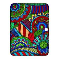 Pop Art Paisley Flowers Ornaments Multicolored 2 Samsung Galaxy Tab 4 (10 1 ) Hardshell Case  by EDDArt