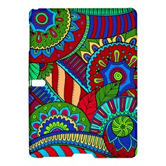 Pop Art Paisley Flowers Ornaments Multicolored 2 Samsung Galaxy Tab S (10 5 ) Hardshell Case  by EDDArt