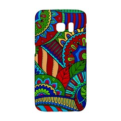 Pop Art Paisley Flowers Ornaments Multicolored 2 Samsung Galaxy S6 Edge Hardshell Case by EDDArt