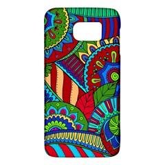 Pop Art Paisley Flowers Ornaments Multicolored 2 Samsung Galaxy S6 Hardshell Case  by EDDArt