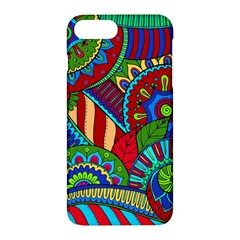 Pop Art Paisley Flowers Ornaments Multicolored 2 Apple Iphone 7 Plus Hardshell Case by EDDArt