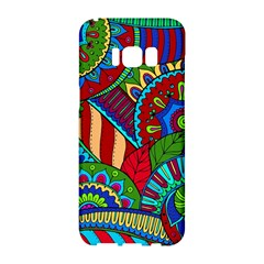 Pop Art Paisley Flowers Ornaments Multicolored 2 Samsung Galaxy S8 Hardshell Case  by EDDArt
