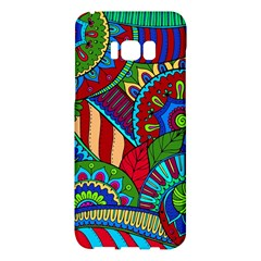Pop Art Paisley Flowers Ornaments Multicolored 2 Samsung Galaxy S8 Plus Hardshell Case  by EDDArt