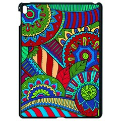 Pop Art Paisley Flowers Ornaments Multicolored 2 Apple Ipad Pro 9 7   Black Seamless Case by EDDArt
