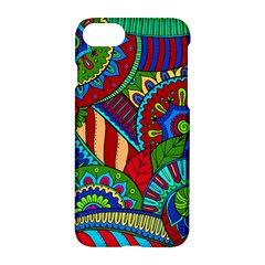 Pop Art Paisley Flowers Ornaments Multicolored 2 Apple Iphone 8 Hardshell Case by EDDArt