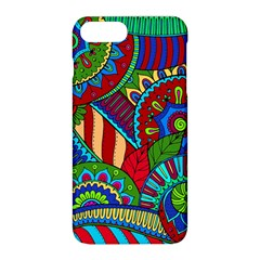 Pop Art Paisley Flowers Ornaments Multicolored 2 Apple Iphone 8 Plus Hardshell Case by EDDArt