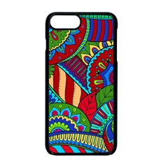 Pop Art Paisley Flowers Ornaments Multicolored 2 Apple Iphone 8 Plus Seamless Case (black) by EDDArt