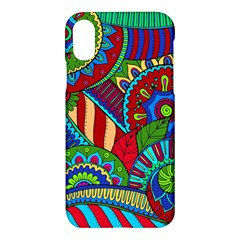 Pop Art Paisley Flowers Ornaments Multicolored 2 Apple Iphone X Hardshell Case by EDDArt