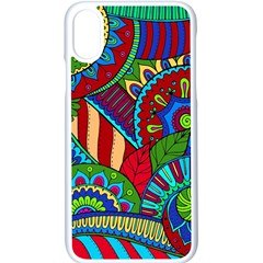 Pop Art Paisley Flowers Ornaments Multicolored 2 Apple Iphone X Seamless Case (white) by EDDArt
