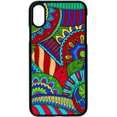 Pop Art Paisley Flowers Ornaments Multicolored 2 Apple Iphone X Seamless Case (black)
