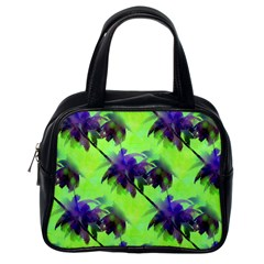 Palm Trees Lime In The Coconut Classic Handbags (one Side) by CrypticFragmentsColors