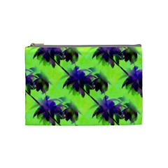 Palm Trees Lime In The Coconut Cosmetic Bag (medium) by CrypticFragmentsColors