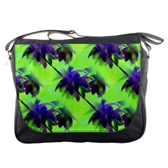 Palm Trees Lime In The Coconut Messenger Bags by CrypticFragmentsColors