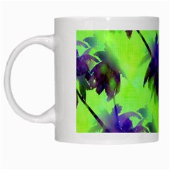 Palm Trees Lime In The Coconut White Mugs by CrypticFragmentsColors