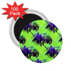 Palm Trees Lime In The Coconut 2 25  Magnets (100 Pack)  by CrypticFragmentsColors