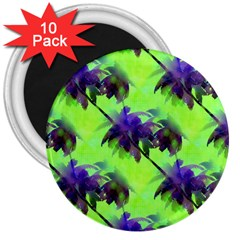 Palm Trees Lime In The Coconut 3  Magnets (10 Pack)  by CrypticFragmentsColors