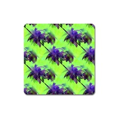Palm Trees Lime In The Coconut Square Magnet by CrypticFragmentsColors