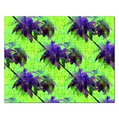 Palm Trees Lime In The Coconut Rectangular Jigsaw Puzzl by CrypticFragmentsColors