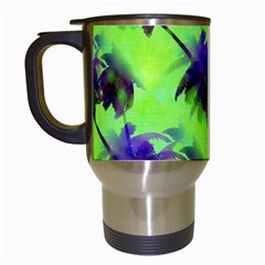 Palm Trees Lime In The Coconut Travel Mugs (white) by CrypticFragmentsColors