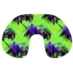 Palm Trees Lime In The Coconut Travel Neck Pillows by CrypticFragmentsColors