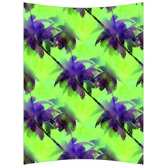 Palm Trees Lime In The Coconut Back Support Cushion by CrypticFragmentsColors