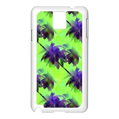 Palm Trees Lime In The Coconut Samsung Galaxy Note 3 N9005 Case (white) by CrypticFragmentsColors