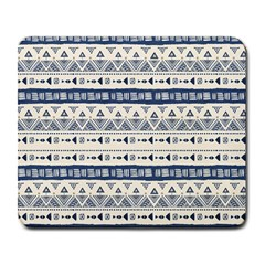 Native American Ornaments Watercolor Pattern Blue Large Mousepads
