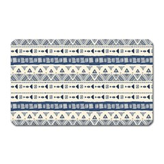 Native American Ornaments Watercolor Pattern Blue Magnet (rectangular) by EDDArt