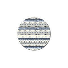 Native American Ornaments Watercolor Pattern Blue Golf Ball Marker (10 Pack) by EDDArt