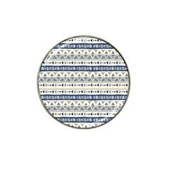 Native American Ornaments Watercolor Pattern Blue Hat Clip Ball Marker (4 Pack) by EDDArt