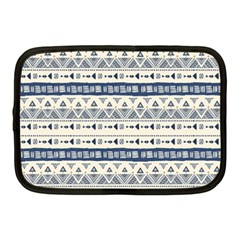 Native American Ornaments Watercolor Pattern Blue Netbook Case (medium)