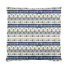 Native American Ornaments Watercolor Pattern Blue Standard Cushion Case (one Side)