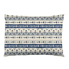 Native American Ornaments Watercolor Pattern Blue Pillow Case