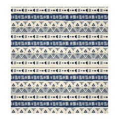 Native American Ornaments Watercolor Pattern Blue Shower Curtain 66  X 72  (large)  by EDDArt