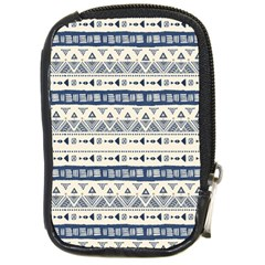 Native American Ornaments Watercolor Pattern Blue Compact Camera Cases
