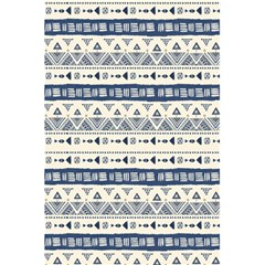 Native American Ornaments Watercolor Pattern Blue 5 5  X 8 5  Notebooks by EDDArt
