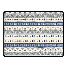 Native American Ornaments Watercolor Pattern Blue Fleece Blanket (small) by EDDArt