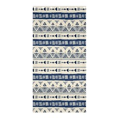 Native American Ornaments Watercolor Pattern Blue Shower Curtain 36  X 72  (stall)