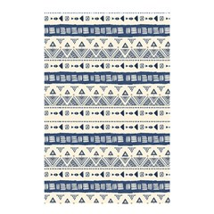 Native American Ornaments Watercolor Pattern Blue Shower Curtain 48  X 72  (small)