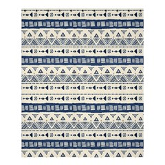 Native American Ornaments Watercolor Pattern Blue Shower Curtain 60  X 72  (medium)  by EDDArt