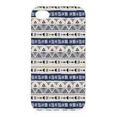 Native American Ornaments Watercolor Pattern Blue Apple Iphone 4/4s Hardshell Case