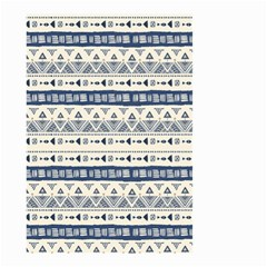 Native American Ornaments Watercolor Pattern Blue Small Garden Flag (two Sides)