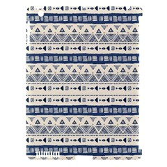 Native American Ornaments Watercolor Pattern Blue Apple Ipad 3/4 Hardshell Case (compatible With Smart Cover)
