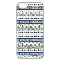 Native American Ornaments Watercolor Pattern Blue Apple Seamless Iphone 5 Case (clear) by EDDArt