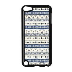 Native American Ornaments Watercolor Pattern Blue Apple Ipod Touch 5 Case (black)