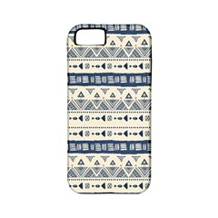 Native American Ornaments Watercolor Pattern Blue Apple Iphone 5 Classic Hardshell Case (pc+silicone)